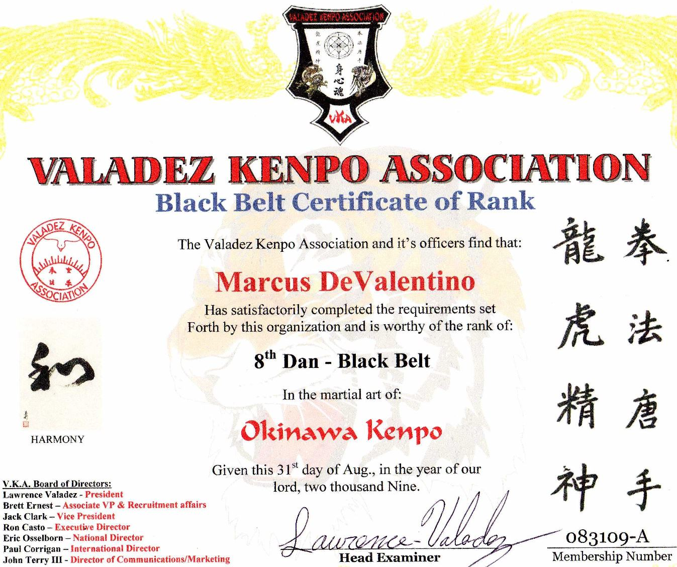 Okinawa Kenpo Karate Kobudo Deva